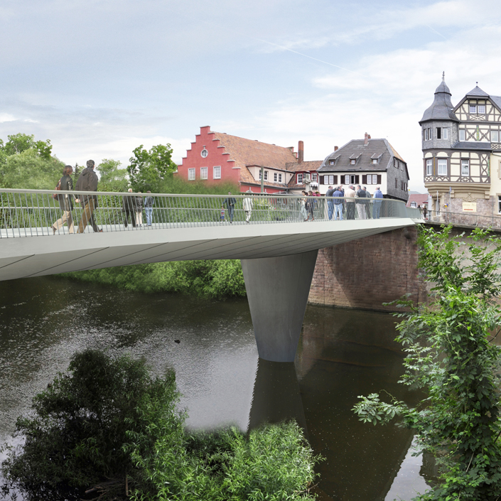 Bad Kreuznach Bridge - View from the bank